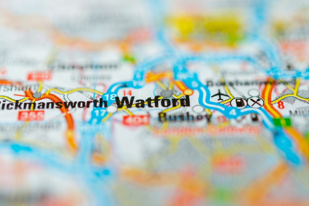 Watford Map - businesses in watford